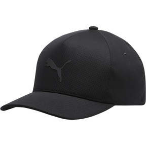 Thumbnail 1 of Golf Men's evoKNIT Delta Flexfit Cap, Puma Black, medium