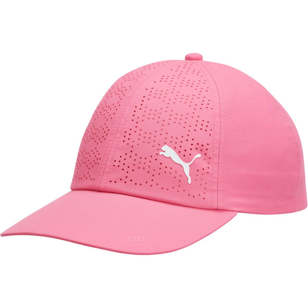 Women's DuoCell Adjustable Cap, Carmine Rose, large