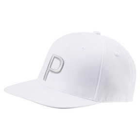 Thumbnail 1 of P Snapback Hat, Bright White Heather, medium