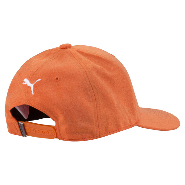 Golf Men's P Snapback Cap, Vibrant Orange, large