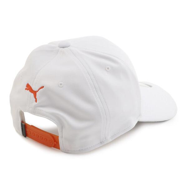 ゴルフ Pマークスナップバックキャップ, Bright White-Vibrant Orange, large-JPN
