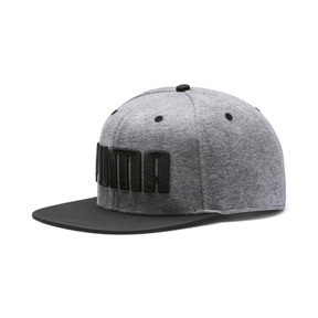Thumbnail 1 of Flatbrim Cap, Medium Gray Heather-Black, medium
