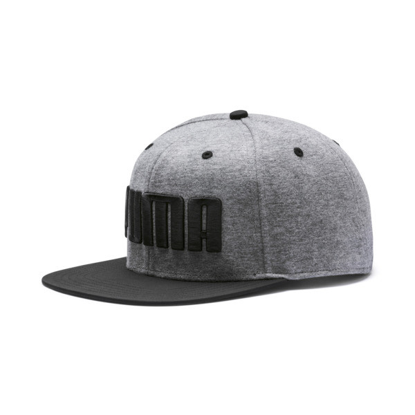 Flatbrim Cap, Medium Gray Heather-Black, large