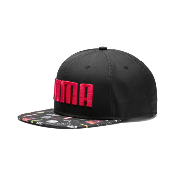 Flatbrim Cap, Puma Black-Graphic, large