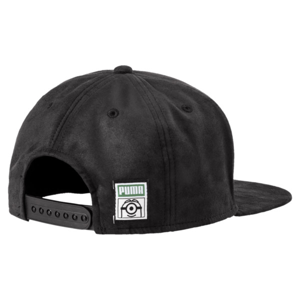 Minions Suede JR Flatbrim Hat, Puma Black, large