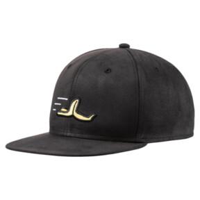 Thumbnail 1 of Minions Suede JR Flatbrim Hat, Puma Black, medium