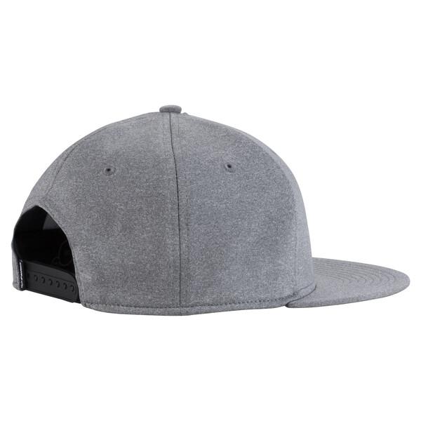 Golf Cresting Snapback Cap, Medium Gray Heather, large