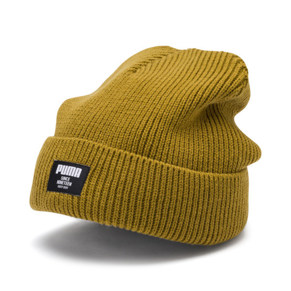 Classic Ribbed Beanie, Moss Green, large