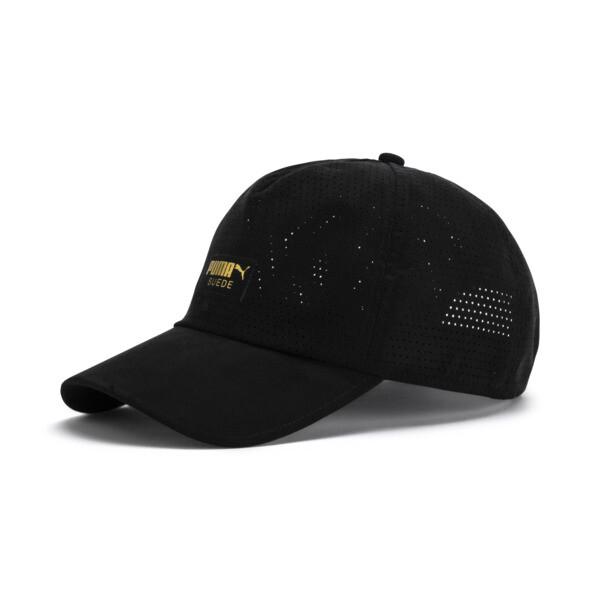 Suede Baseball Cap, Puma Black, large
