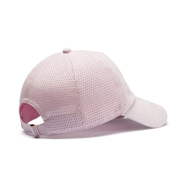 Suede Baseball Cap, Lilac Sachet, large
