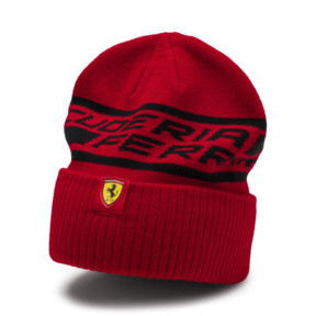 Thumbnail 1 of Ferrari Fan Beanie, Rosso Corsa, medium