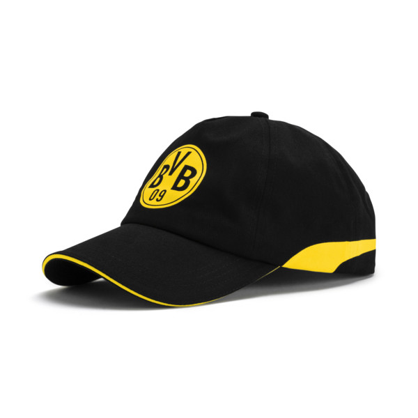 BVB Training Cap, Puma Black-Cyber Yellow, large