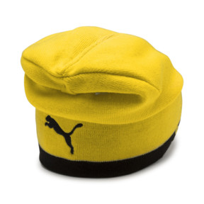 Thumbnail 2 of BVB Reversible Beanie, Puma Black-Cyber Yellow, medium