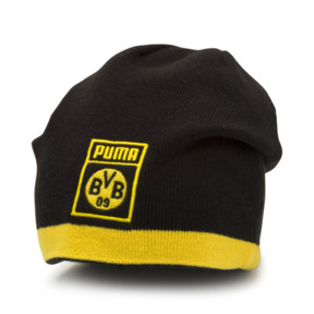 Thumbnail 3 of BVB Reversible Beanie, Puma Black-Cyber Yellow, medium