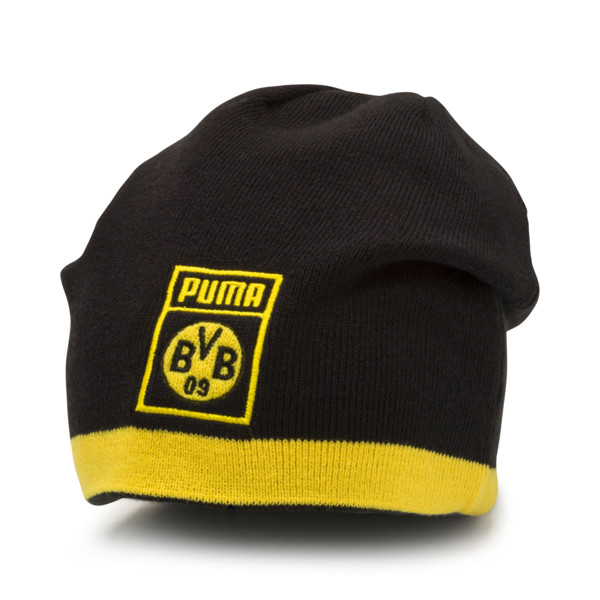 BVB Reversible Beanie, Puma Black-Cyber Yellow, large