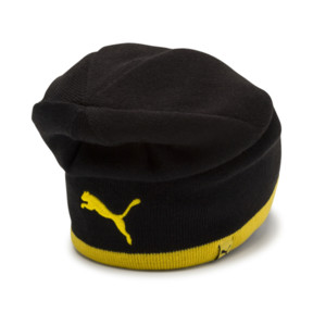 Thumbnail 4 of BVB Reversible Beanie, Puma Black-Cyber Yellow, medium
