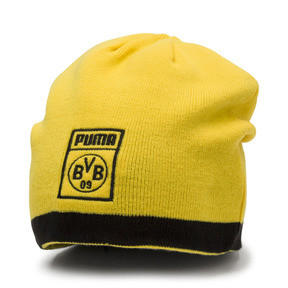 Thumbnail 1 of BVB Reversible Beanie, Puma Black-Cyber Yellow, medium