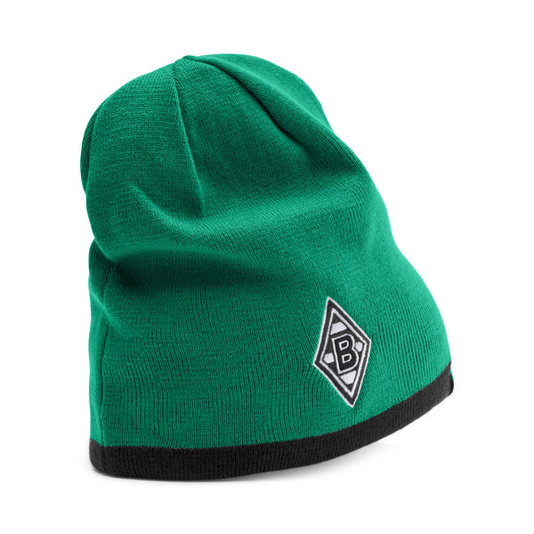 Borussia Mönchengladbach Reversible Beanie, Power Green-Puma Black, large