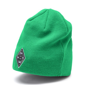 Thumbnail 3 of Borussia Mönchengladbach Reversible Beanie, Puma Black-Bright Green, medium