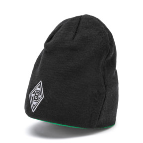 Thumbnail 1 of Borussia Mönchengladbach Reversible Beanie, Puma Black-Bright Green, medium