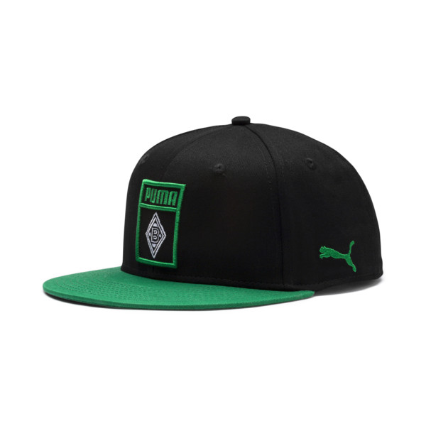 Casquette Borussia Mönchengladbach Flatbrim, Puma Black-Power Green, large