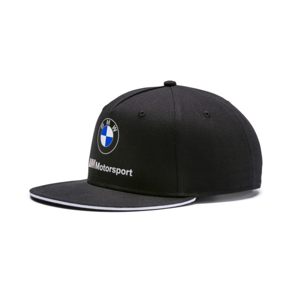 BMW M Motorsport Flat Brim Cap, Puma Black, large