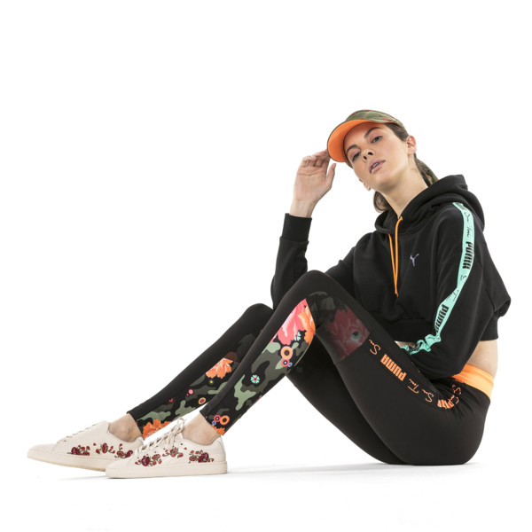 PUMA x SUE TSAI Visor, Olivine-AOP-fizzy orange, large