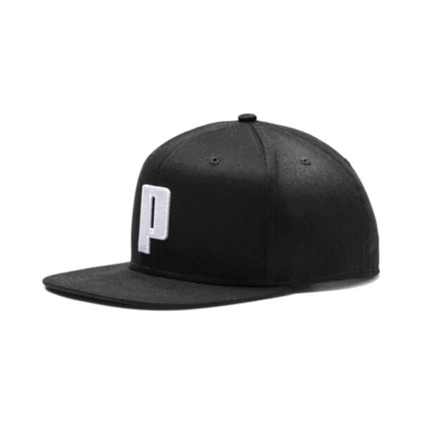 Color Block P Cap, Puma Black-Puma White, large