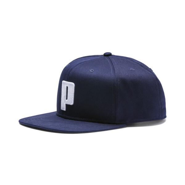 Color Block P Cap, Peacoat-Puma White, large