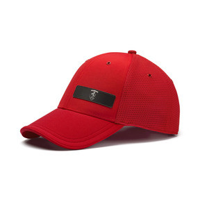 Thumbnail 1 of Ferrari Lifestyle Stretchfit Baseball Cap, Rosso Corsa, medium