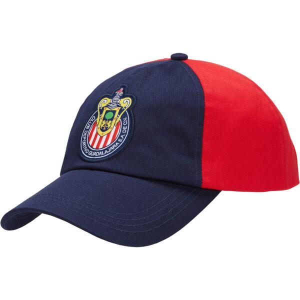 Chivas Cap, Peacoat-Puma Red, large