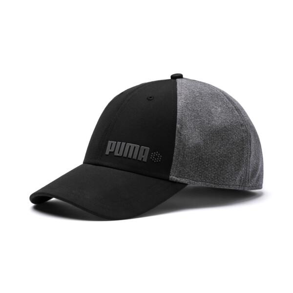 Dot Mesh Stretch Fit Cap, Puma Black, large