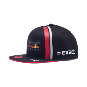 Thumbnail 1 of Red Bull Racing Replica Verstappen Flatbrim Cap, NIGHT SKY-Chinese Red, medium