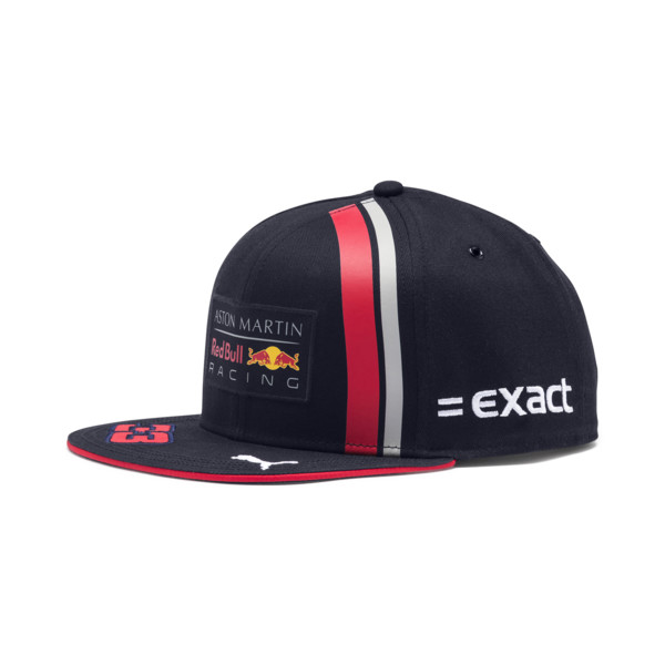 Red Bull Racing Replica Verstappen Flatbrim Cap, NIGHT SKY-Chinese Red, large