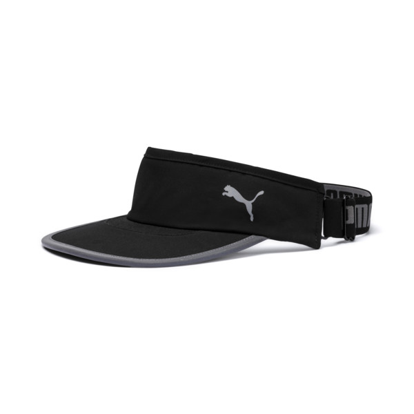 PUMA Woven Running Visor, Puma Black, large