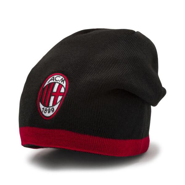 AC Milan Reversible Beanie, Tango Red-Puma Black, large