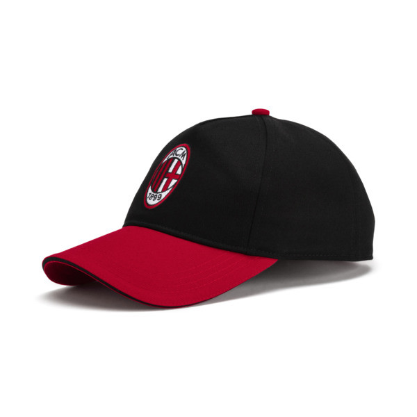 AC Milan Training Cap, Puma Black-Tango Red, large
