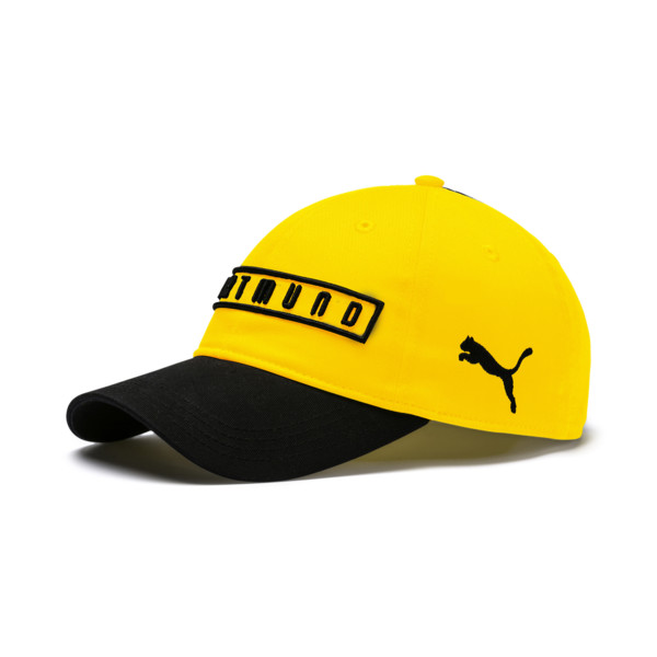 BVB Fan Cap, Puma Black-Cyber Yellow, large