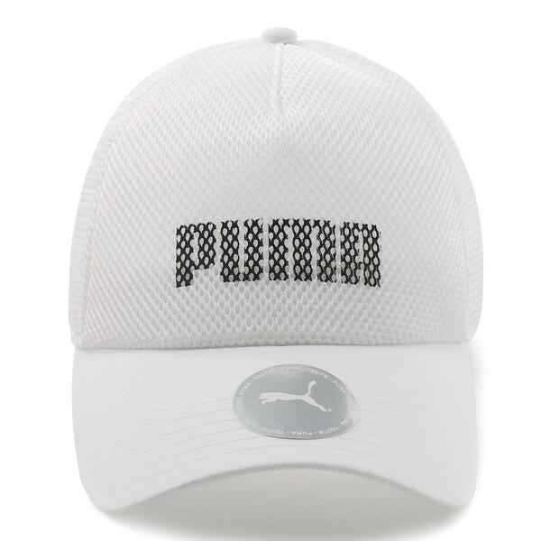 キッズ プーマ トラッカー キャップ JR, Puma White, large-JPN