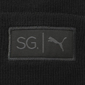 Thumbnail 3 of SG x PUMA WOMEN'S STYLE BEANIE, Puma Black, medium-JPN
