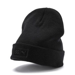 Thumbnail 1 of SG x PUMA WOMEN'S STYLE BEANIE, Puma Black, medium-JPN