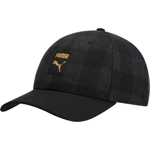Check BB Cap, Puma Black-Iron Gate-check, large