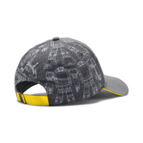 Thumbnail 2 of PUMA x TRANSFORMERS Baseball Cap, QUIET SHADE-Cyber Yellow, medium