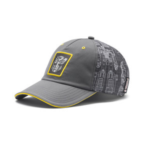 Thumbnail 1 of PUMA x TRANSFORMERS Baseball Cap, QUIET SHADE-Cyber Yellow, medium