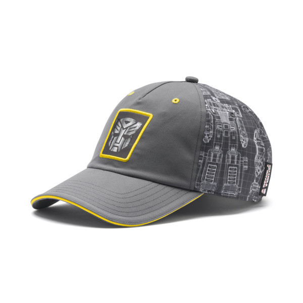 PUMA x TRANSFORMERS Baseball Cap, QUIET SHADE-Cyber Yellow, large
