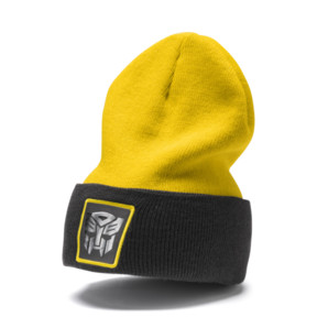 Thumbnail 1 of PUMA x TRANSFORMERS Beanie, QUIET SHADE-Cyber Yellow, medium