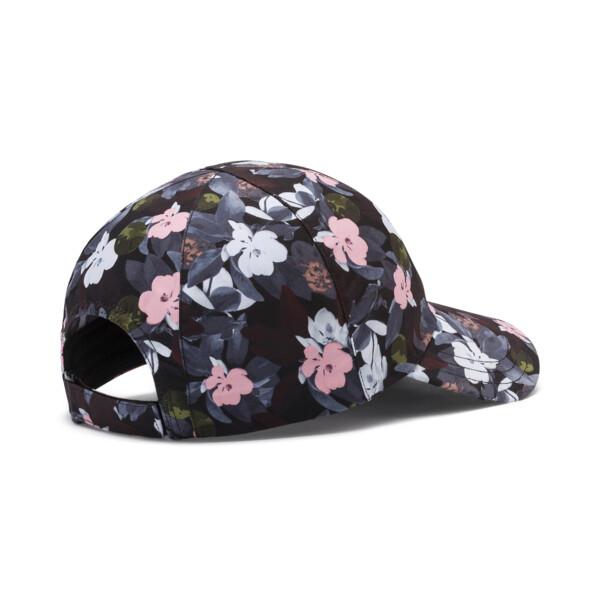 Women's Style Baseball Cap, Puma Black-floral AOP, large
