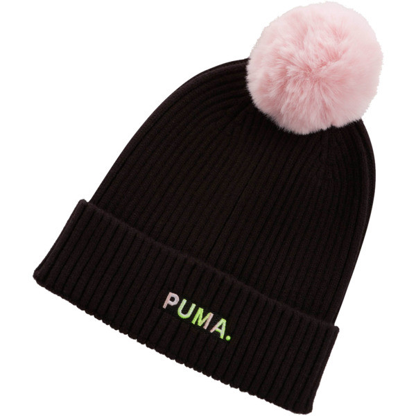 Shift Women's Beanie, Puma Black-Bridal Rose, large