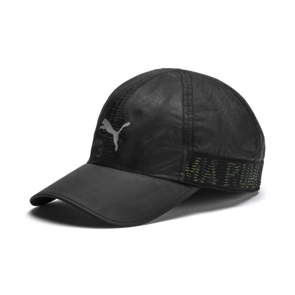 Performance Stretchfit Running Cap, Puma Black, large