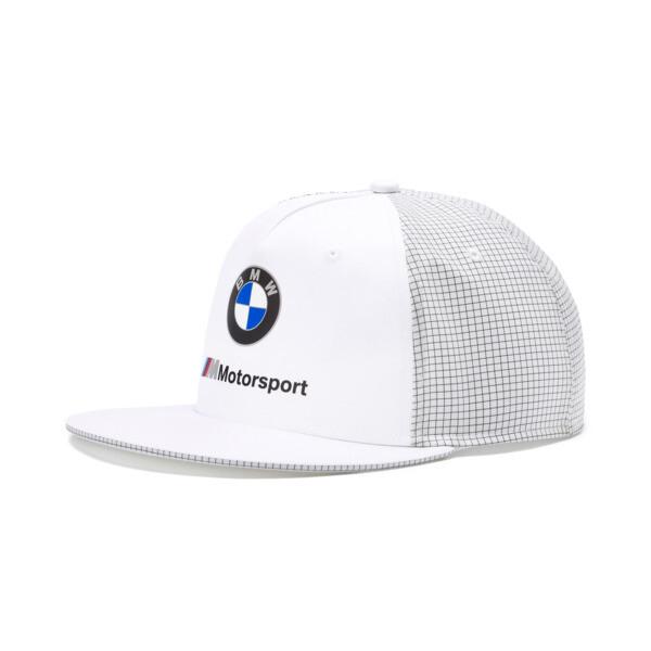 BMW M Motorsport Flat Brim Cap, Puma White, large